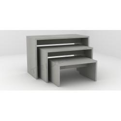 Mesa expositora gris mate, tridecor