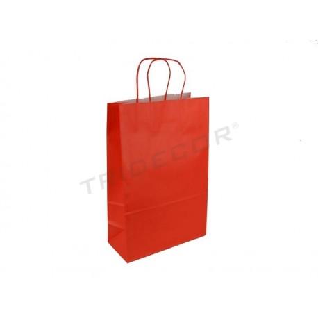 010778 Saco de papel celulose vermelho 37x27x12 cm 25 unidades. Tridecor