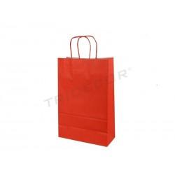 010778 Bolsa papel celulosa rojo 37x27x12 cm 25 unidades. Tridecor