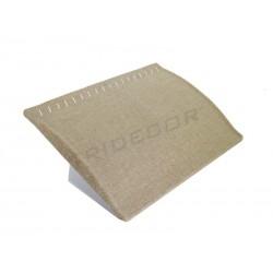 009435 Expositor joyería alzado, tela lino beige. Tridecor