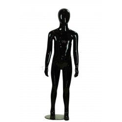 Mannequin child without a face fiber glass color gloss black 8 years