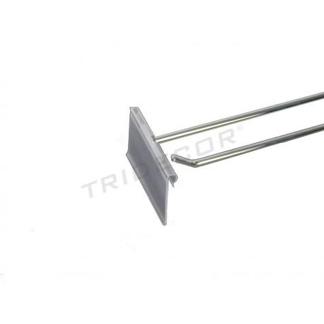 001171 Gancho portaprecio para malla 35cm 8mm. Tridecor