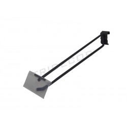 001168-MG2 Gancho portaprecio para rectangular tubos de 35 cm, 7 mm Tridecor