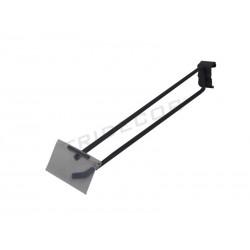 001168-MG2 Gancio portaprecio per tubo rettangolare di cm 35, 7 mm Tridecor