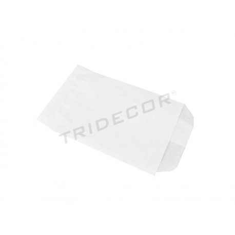 010423 Envelopes of paper pulp white 16x9 cm 100 units .Tridecor