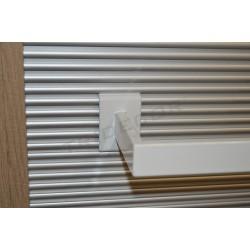 006541 Barra appendiabiti per sciarpe colore bianco 120 cm Tridecor