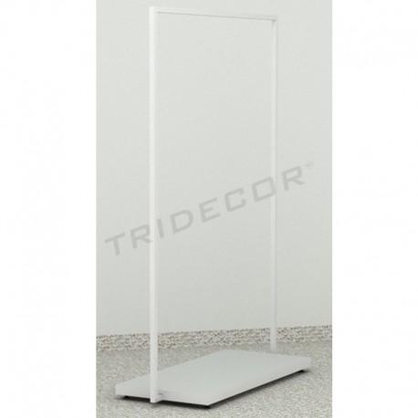 038934 Penjador blanc burro amb base de fusta. Tridecor