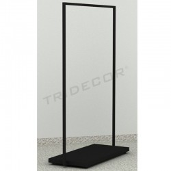 038935 coat Rack donkey with black wooden base. Tridecor