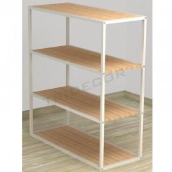 038161AB Expositor 4 Expositor 4 prestatges color blanc fusta de bedoll 108x94x39 cm Tridecor