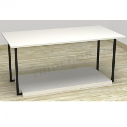 MESA EXPOSITORA COLOR BLANCO 120X42X40 CM