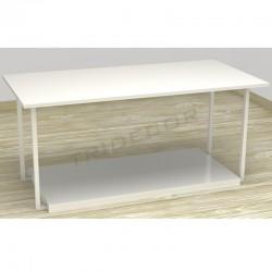 Mesa expositora color blanco 120x42x40 cm, tridecor