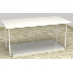 TABLE EXHIBITING BLACK COLOR 120X42X40 CM
