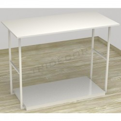 MESA EXPOSITORA COLOR BLANCO 120X87X39 CM