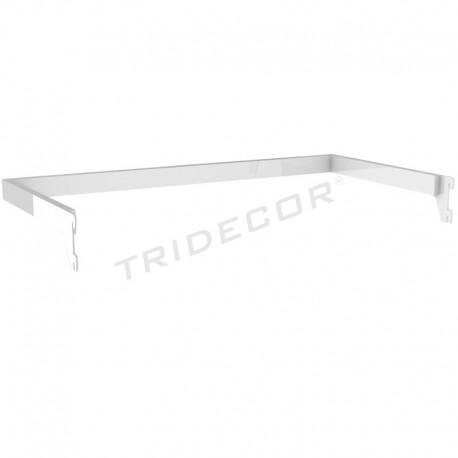 006545 Bar hanger U-shape zipper color white 59.5x30cm. Tridecor