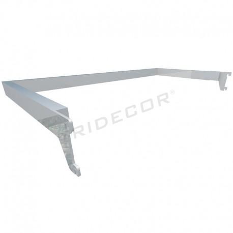 006132 Bar peça rack forma d'U per zip 59,5X30 CM. Tridecor