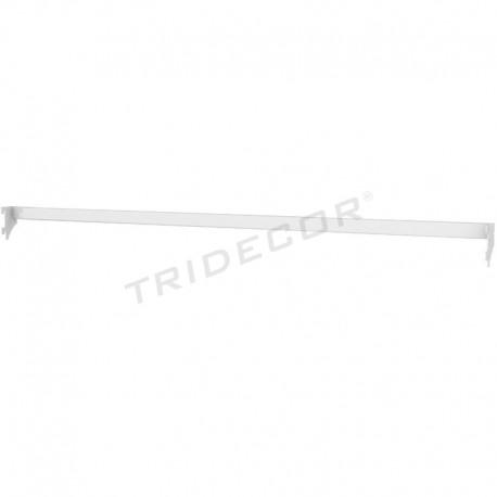 013184-Bar metal shelf white 120 cm Tridecor