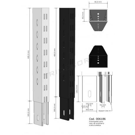 006186 Extensão para coluna de estante 40 cm, tridecor