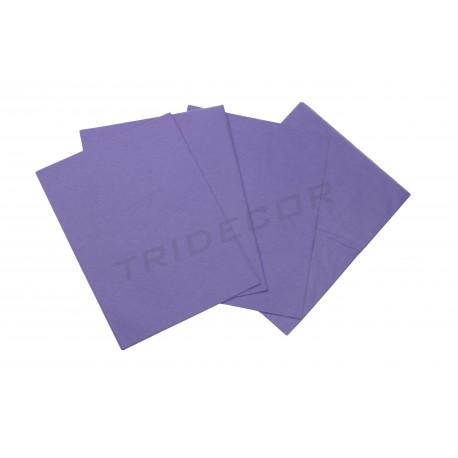 Papel de seda roxo 75x50cm 100 unidades