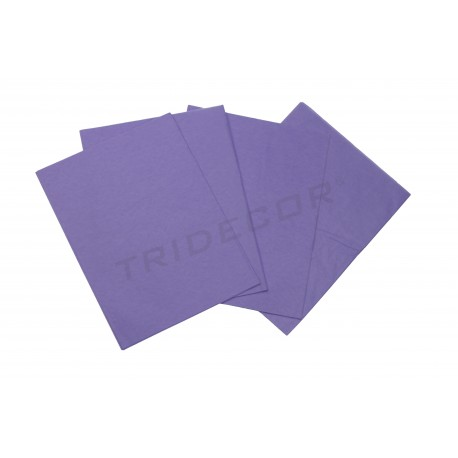 Paper de seda de color porpra 75x50cm 100 unitats