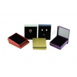 Caja para joyería, 8x5x3 cm. Varios colores. 24 uds tridecor