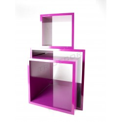 Square cube fuchsia several measures