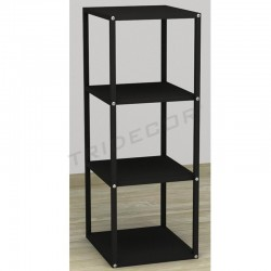 038158NG Expositor 4 estantes color negro 108x44x39 cm. Tridecor