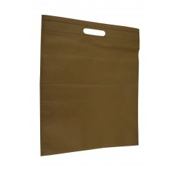 CLOTH BAG with die cut HANDLE, CAMEL COLOR 25x35 CM 25 UNITS