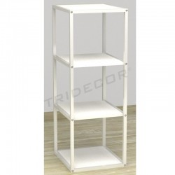 038157BL Expositor 4 estantes color blanco.. Tridecor