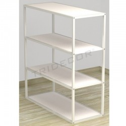 038161BL. Expositor 4 estantes blanco 108x94x39 CM. Tridecor