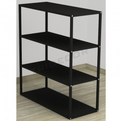 038160NG Expositor 4 estantes color negro. Tridecor