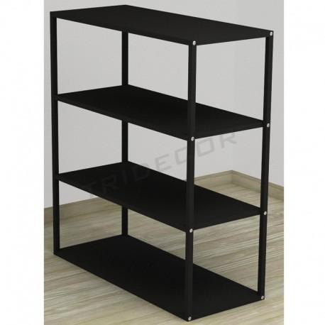 038160NG Exhibitor 4 shelves color black. Tridecor