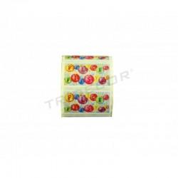 粘胶标签,圣诞快乐,目的圣诞节。 500个。 tridecor