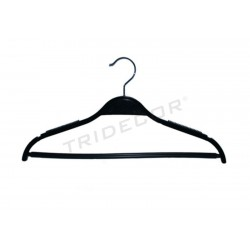 HANGER WITH BLACK ROD AND NON-SLIP 43 CM 5 PCS