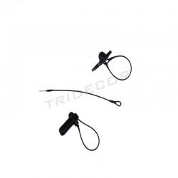 012003 Parche cable antirroubo de cor negra. Tridecor