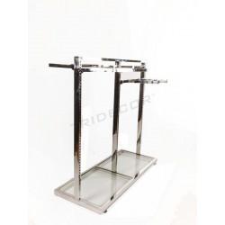 Cabideiro gôndola de aço com vidro