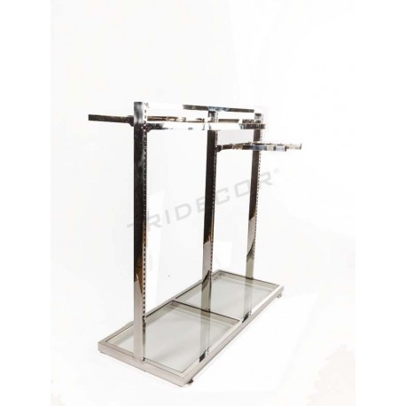 Abrigo rack góndola cirúrxico con vidro