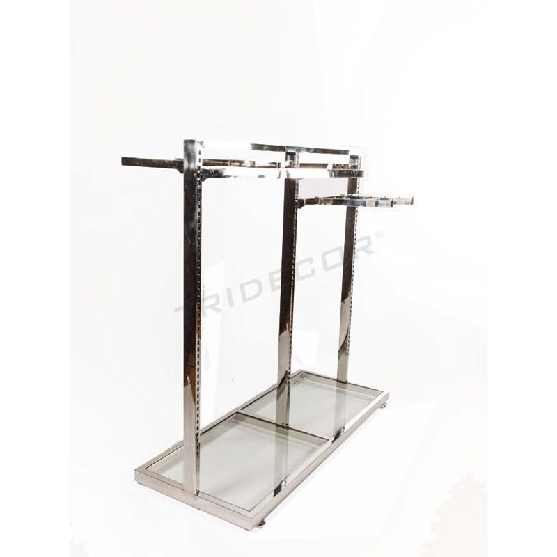 Perchero g ndola de acero con cristal - Percheros de acero ...