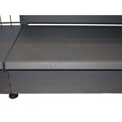Panneau avant en métal gris étagère 90x13 cm, tridecor