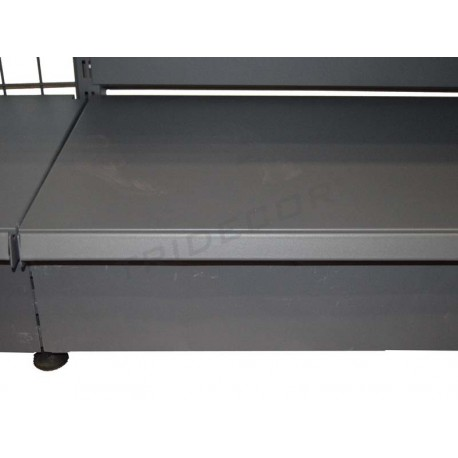 Front panel grey metal shelf 90x13 cm, tridecor