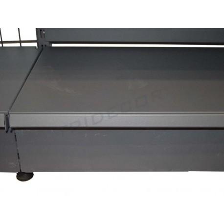 Panell frontal de color gris metall prestatge 90x13 cm, tridecor