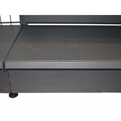 Panneau avant en métal gris étagère 120x13 cm, tridecor
