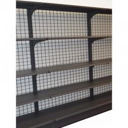 Étagère métallique gris avec maille 90x150 cm, tridecor