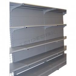 Estantería metálica gris con chapa, 120x150cm, tridecor