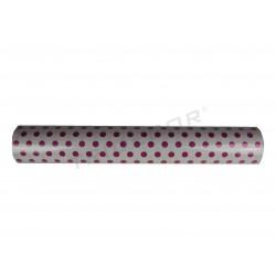 礼品包装纸在白,图案的紫红色圆点62厘米