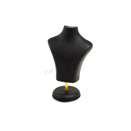 Bust jewellery, imitation leather black. 20x15x6 cm, tridecor