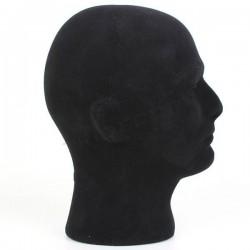 Cabeza porexpan hombre, color negro