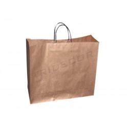 010908 Bolsa de papel asa cordón color cobre. Tridecor