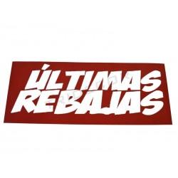 Cartel, Ultimas rebajas, 100x35 cm, tridecor