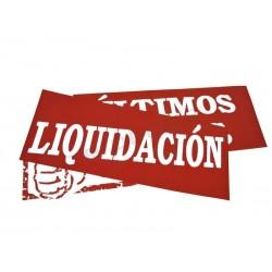 014258 Cartel liquidación 100x35 cm. Tridecor