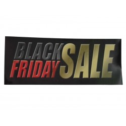 CARTEL BLACK FRIDAY SALE, 100X35 CM